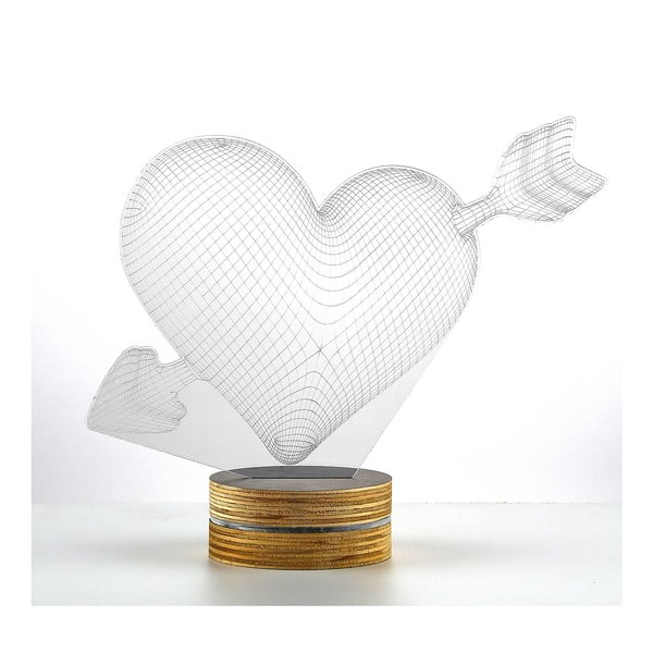 Lampa 3D stołowa My Heart