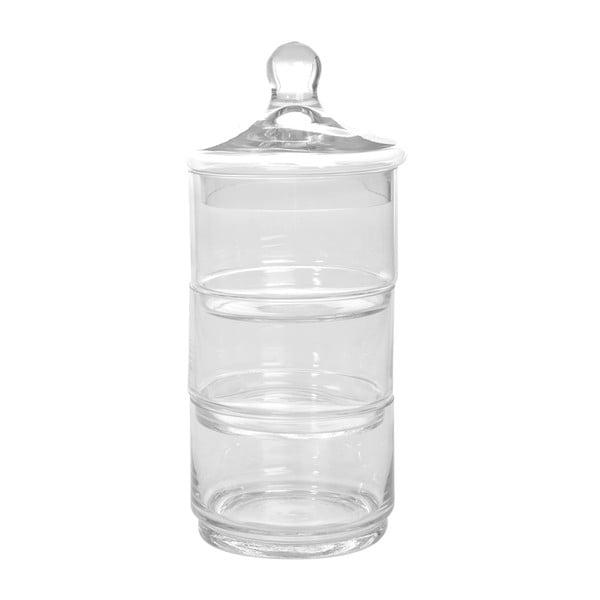 Potrójny szklany pojemnik Jar Glass