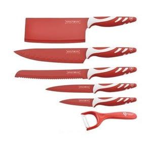 6-częściowy komplet noży Chef Non-stick Color, czerwony