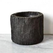 Wypalana palmowa doniczka Wood