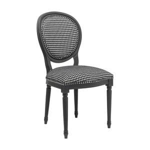 Czarno-białe krzesło do jadalni Kare Design Pepita
