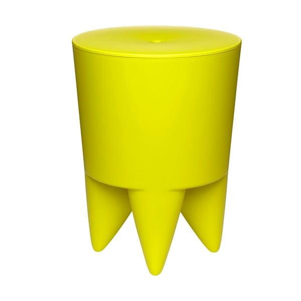 Stolik, schowek i cooler do butelek w jednym Bubu, żółty
