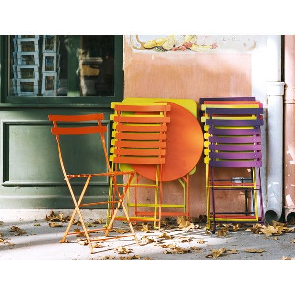 Zestaw 2 żółtych krzeseł składanych Fermob Bistro