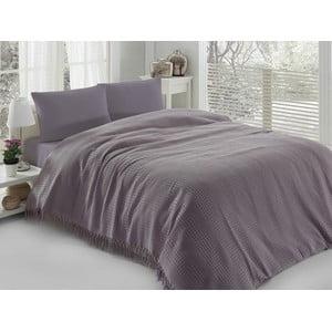 Cienka narzuta Pique Purple, 180x240cm