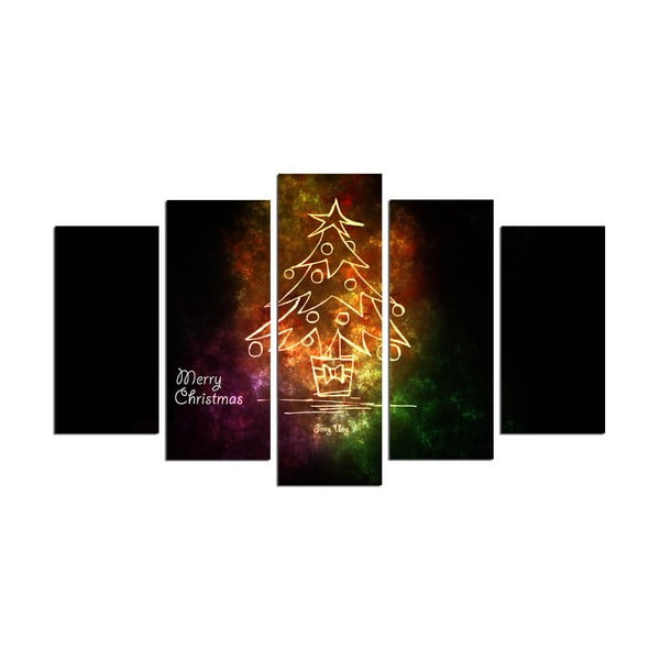 Obraz pięcioczęściowy Christmas no. 2, 110x60 cm