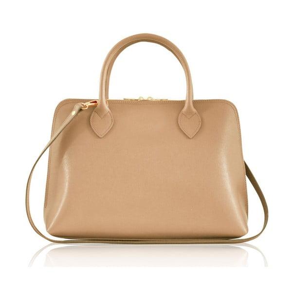 Skórzana torebka Penny, beżowa