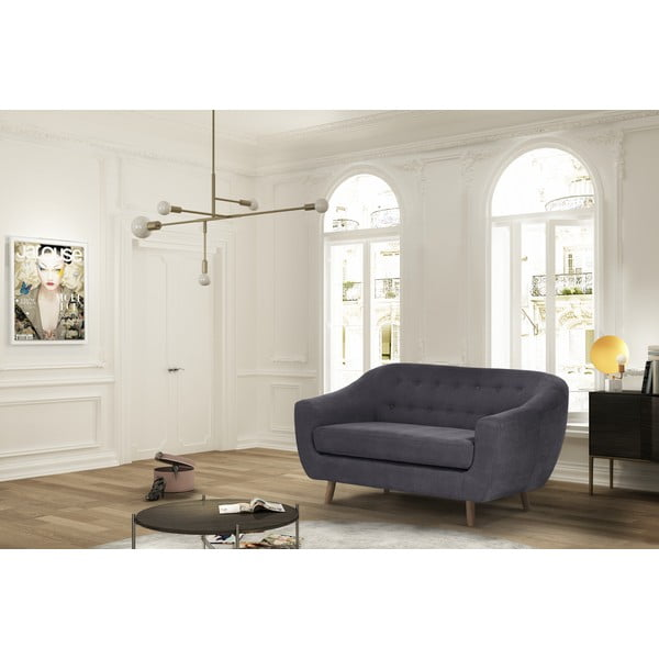 Antracytowa sofa dwuosobowa Jalouse Maison Vicky