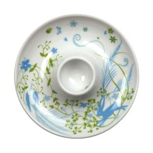 Zestaw 2 talerzy z kieliszkiem na jajko Bunny Cup, zielony