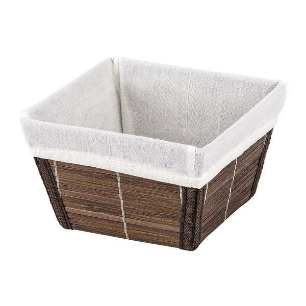 Brązowy koszyk Wenko Bamboo, 15 x 15 cm