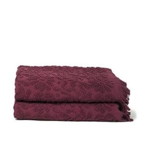 Komplet 2 bordowych ręczników Riad Casa Di Bassi Bath, 70x140 cm
