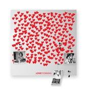Magnetyczna tablica dESIGNoBJECT.it Lovestorming,50x50cm