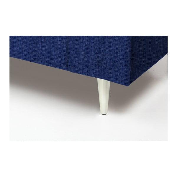 Niebieski fotel Vivonita Connor