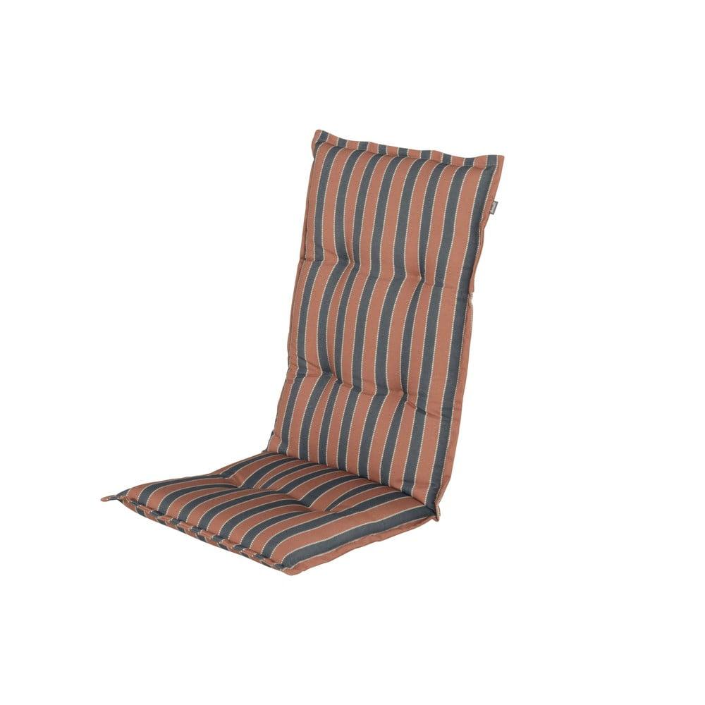 Brązowo-szara poduszka na fotel ogrodowy Hartman Stefano, 123x50 cm