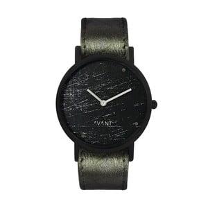 Czarny zegarek unisex z ciemnozielonym paskiem South Lane Stockholm Avant Raw