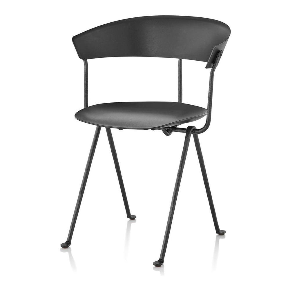 Czarno-szare krzesło Magis Officina
