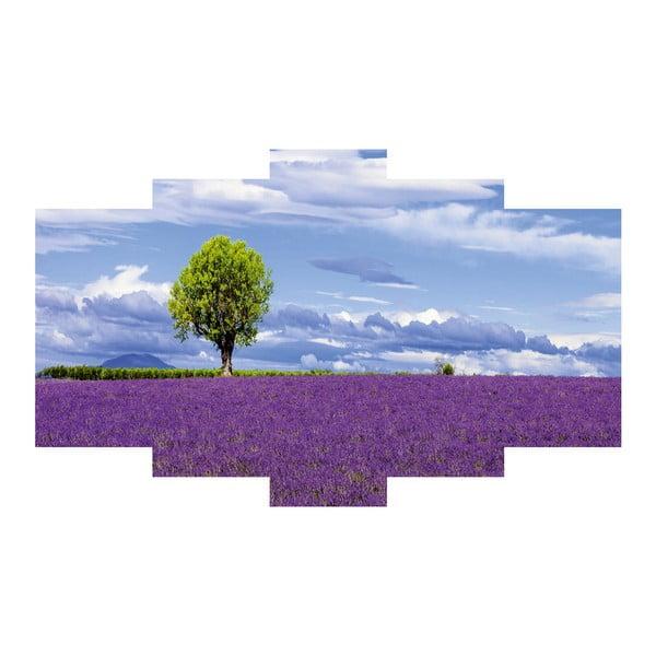 Pięcioczęściowy obraz Lavender