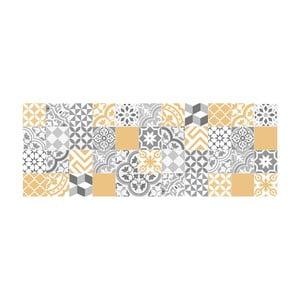 Dywan winylowy Floorart Collage Con Amarillo Liso, 66x180 cm