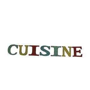 Napis dekoracyjny Cuisine
