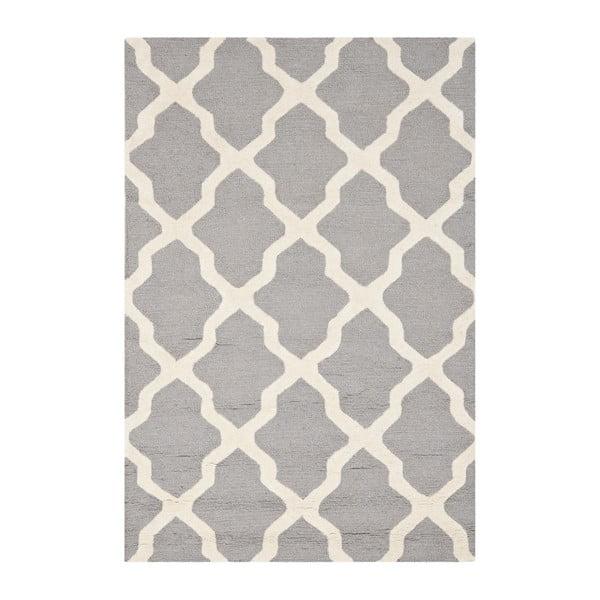 Dywan wełniany Ava Light Grey, 121x182 cm
