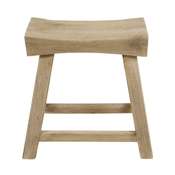 Stołek z drewna tekowego Santiago Pons Levi