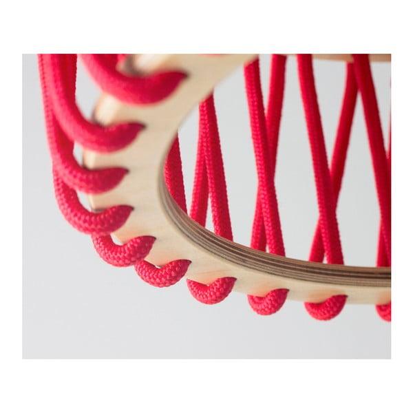 Czerwona lampa wisząca EMKO Macaron, 30 cm