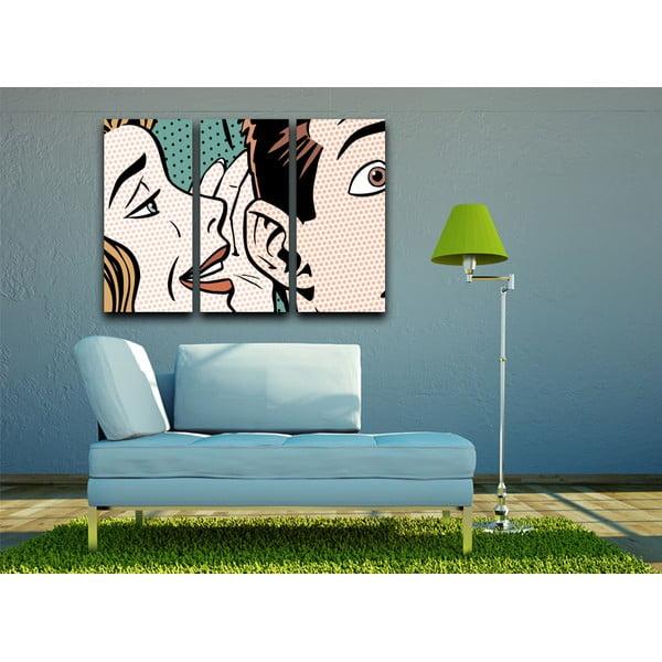 Obraz trzyczęściowy Whisper, 23x50cm