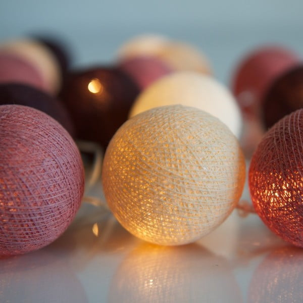 Świecący łańcuch Irislights Dusty Pink, 10 lampek