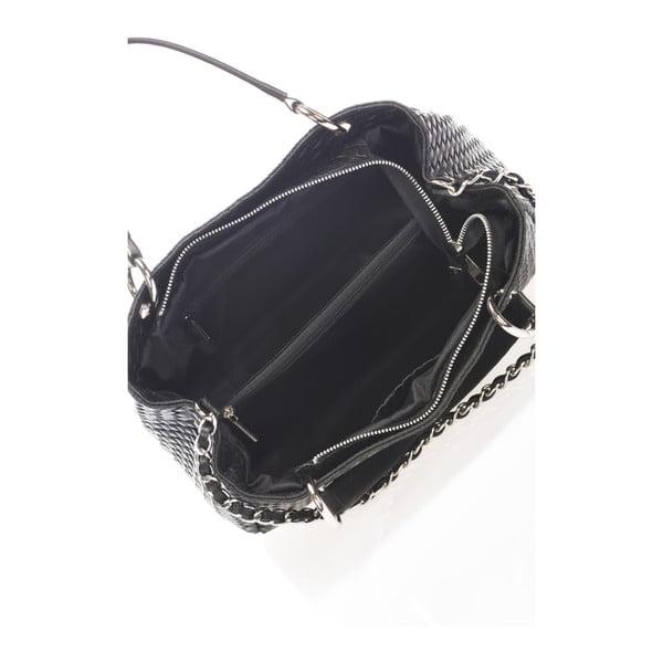 Czarna torebka skórzana Massimo Castelli Alessandra