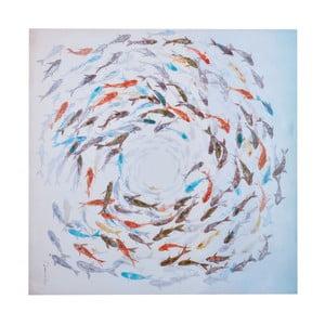 Obraz z motywem ryb Dino Bianchi, wysokość 1m
