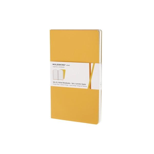Zestaw 2 notesów  Moleskine Yellow, w linie 13x21 cm