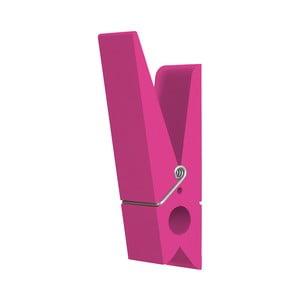 Różowy wieszak w kształcie klamerki SwabDesign