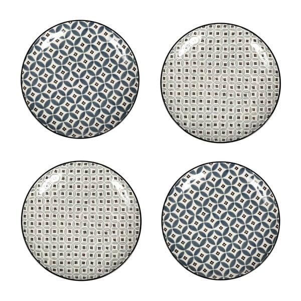 Zestaw 4 porcelanowych talerzy Old Floor, 26 cm
