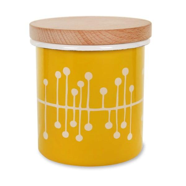 Emaliowany pojemnik Canister Mustard
