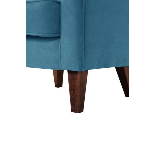 Turkusowy fotel Jalouse Maison Kylie