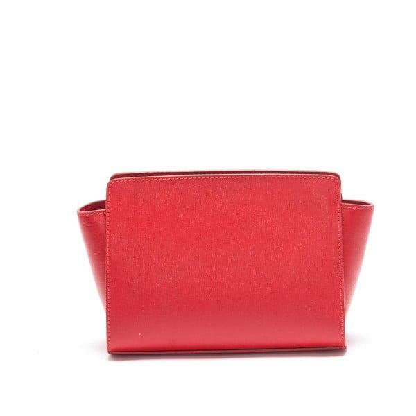 Skórzana torebka Mangotti 446, czerwona