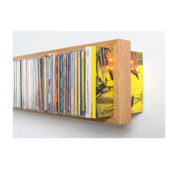Półka na płyty CD z drewna dębowego das kleine b b-cd1, 32x15 cm