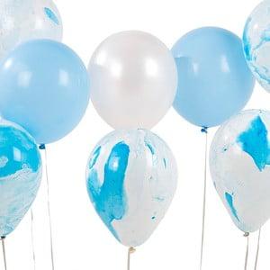 Zestaw 12 niebieskich balonów Talking Tables Unicorn