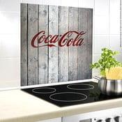 Szklana płyta ochronna na ścianę przy kuchence Wenko Coca-Cola Wood, 70x60cm