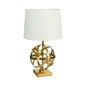 Biała lampa stołowa z podstawą w złotej barwie Santiago Pons Arlo