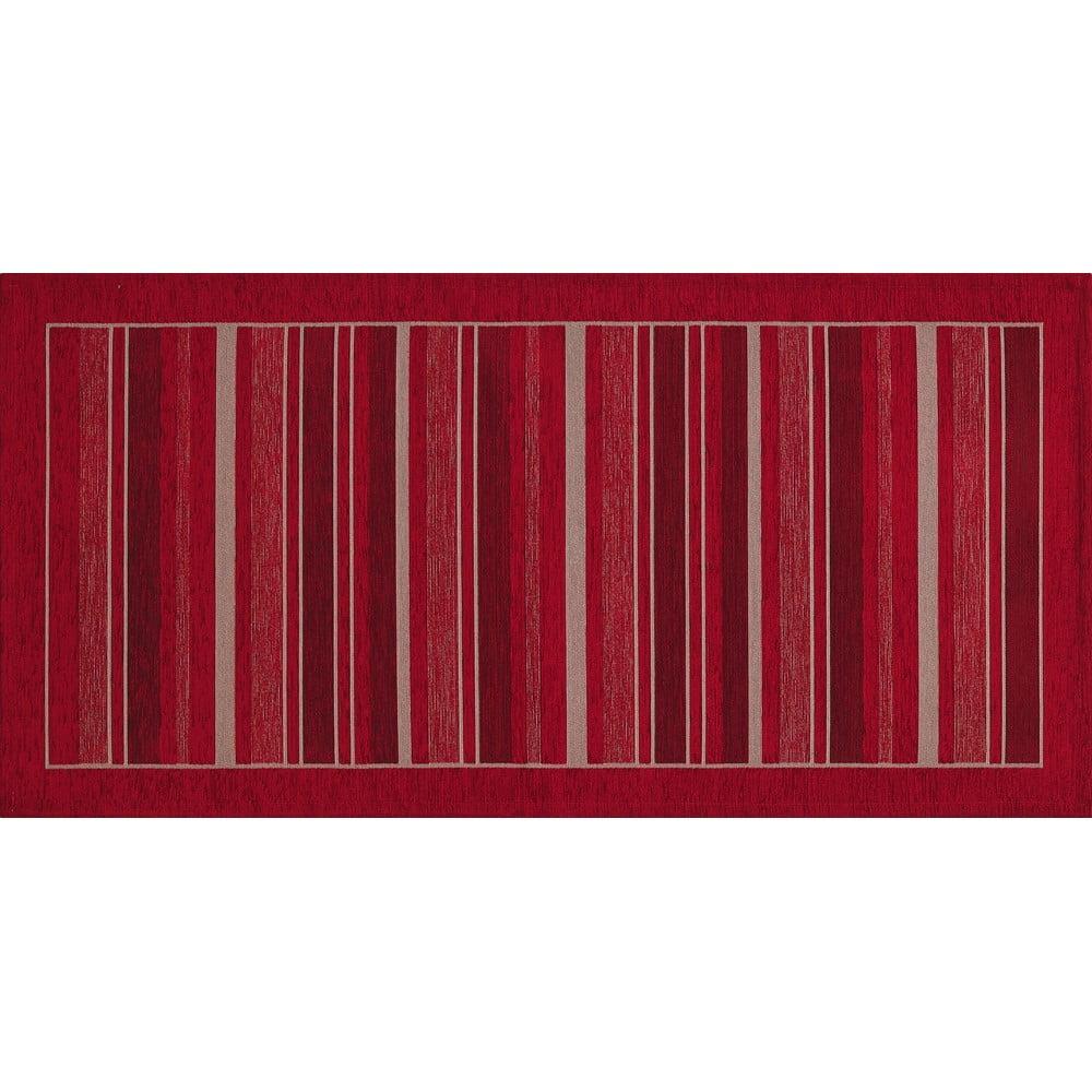 Czerwony chodnik Floorita Velour, 55x190 cm