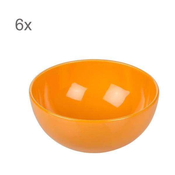 Komplet 6 misek Kaleidoskop 200 ml, pomarańczowy