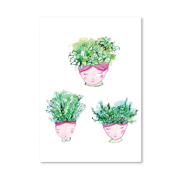Plakat Face Pot Multi, 30x42 cm