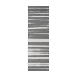 Szary dywan bawełniany Linie Design Glorious, 80x250 cm