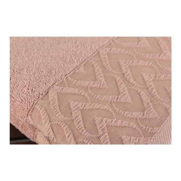 Zestaw 2 różowych ręczników Kalp Dusty Rose, 50x90cm