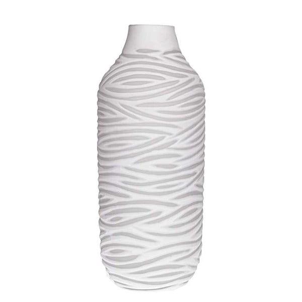 Biały   wazoon szklany InArt Ximena