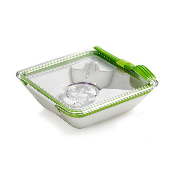 Biało-zielony pojemnik na lunch Black + Blum Apetit