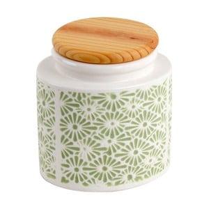 Ceramiczny pojemnik Zielony ornament
