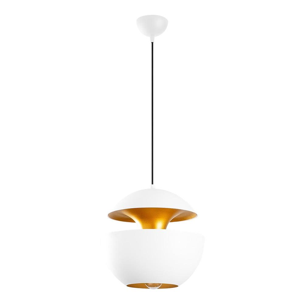 Biała lampa wisząca Opviq lights Berceste Round