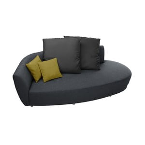 Szaro-żółta sofa 3-osobowa Florenzzi Viotti Light s opěradlem na levé straně
