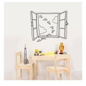 Naklejka dekoracyjna na ścianę Planes Window